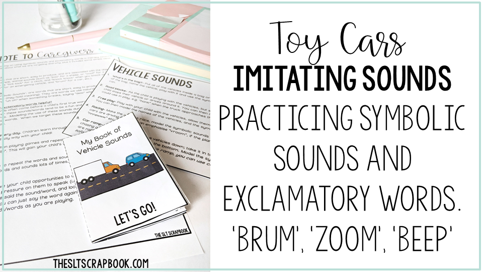 Use toy cars for imitating symbolic sounds and support early language skills