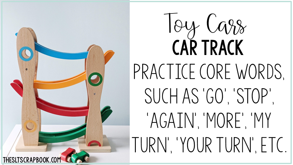 Image showing how you can use car tracks to target core words
