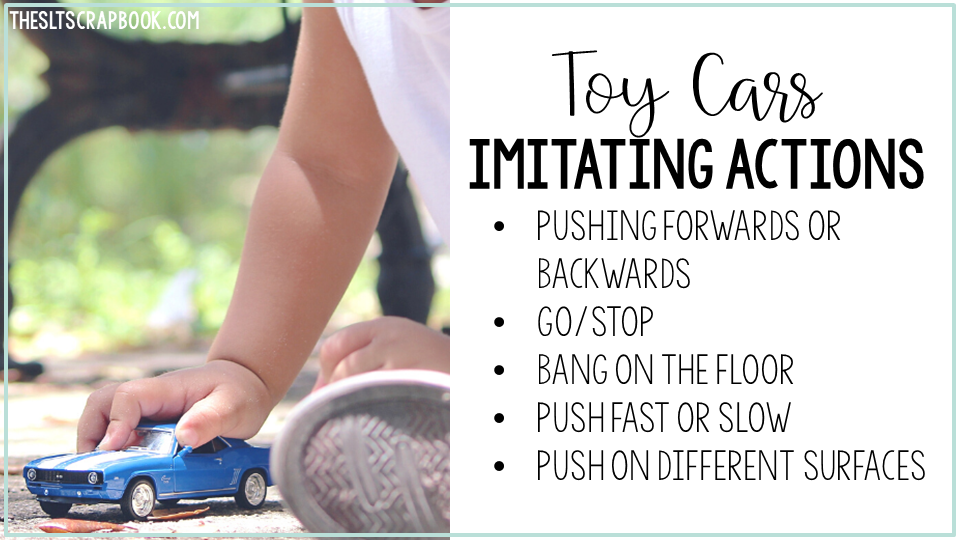 Image showing how you can use toy cars when practising imitating actions and support early language