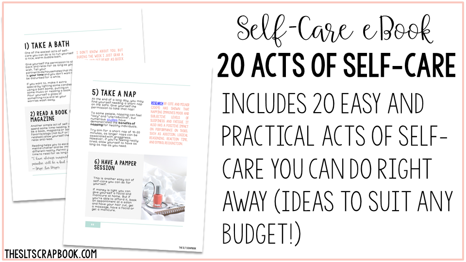 Self-care eBook 20 acts of self-care Image