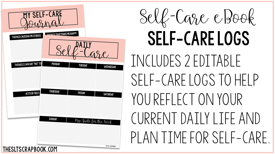 Self-Care eBook journal pages